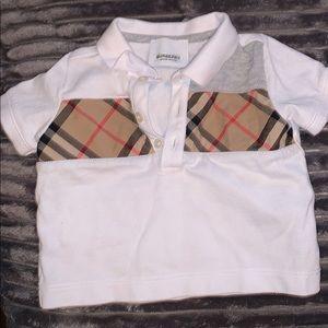 Boy Burberry Shirt 6 Months